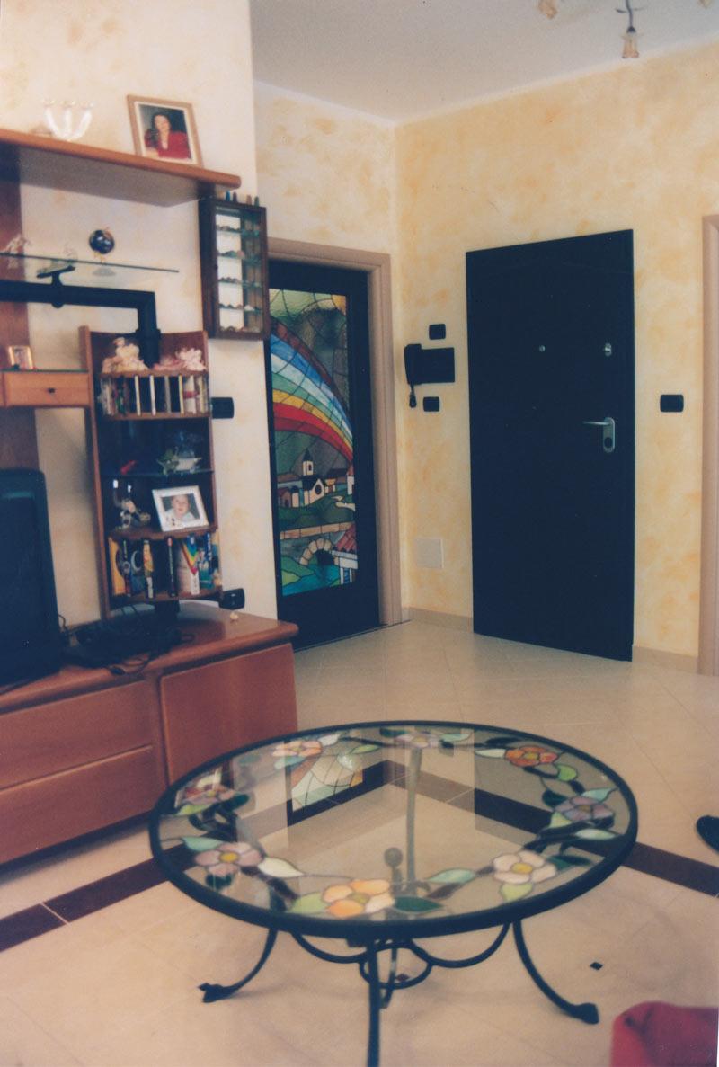 Vetro per porta interna vetrate d 39 arte andreini in romagna - Vetro per porta interna ...