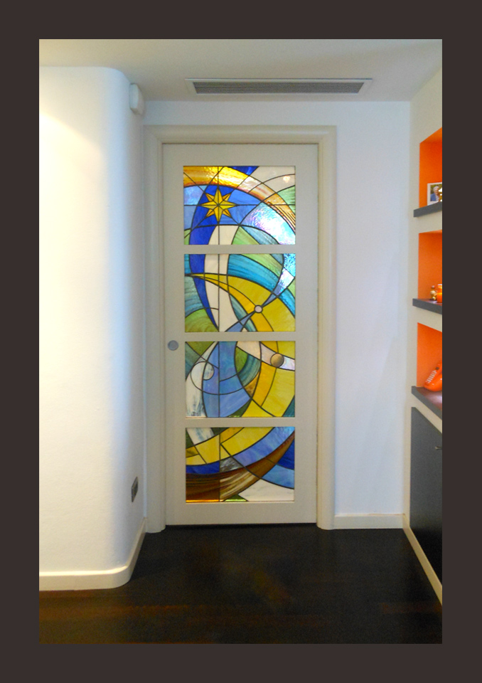 Vetrate per porte vetrate d 39 arte andreini for Vetrate per interni